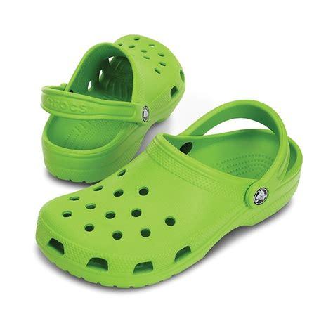 Original Crocs crocs classic shoe volt green original crocs slip on shoe