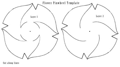 paper cut out templates flowers 7 best images of printable template pinwheel flowers