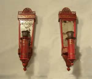 Sconces For Sale 7871 Pair Tin Candle Wall Sconces By Caldwell C1910