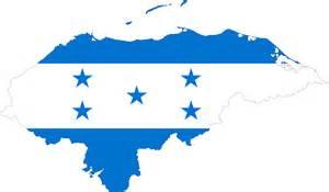 Honduras Flag Outline by Clipart Honduras Map Flag