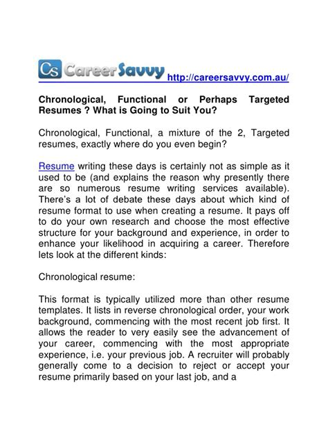 good chronological resume examples free career resume template