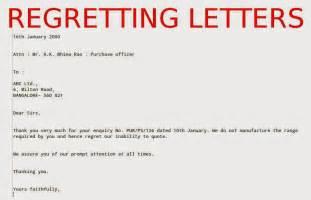 Letter for invitation regret letter to vendor regret letter for