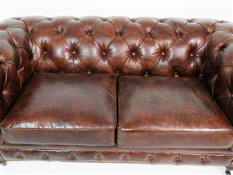 tufted distressed leather sofa georgian style distressed leather tufted sofa for sale at