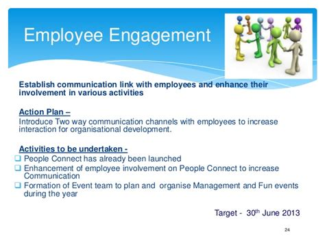 employee engagement plan template annual business plan hr template play this in slide show