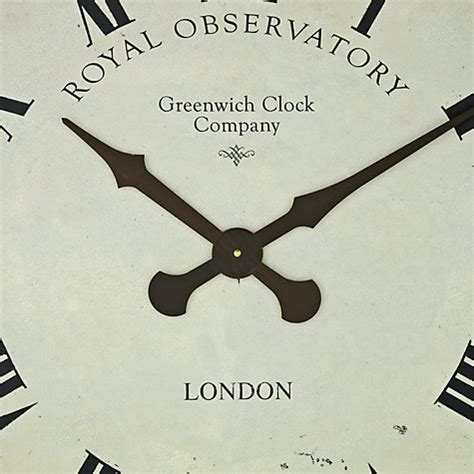 roger lascelles extra large greenwich dial wall clock black buy roger lascelles greenwich wall clock dia 70cm cream