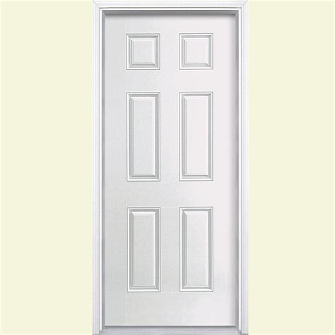 Exterior Door Panel Masonite 36 In X 80 In Avantguard Flagstaff Finished Smooth Fiberglass Prehung Front Door With