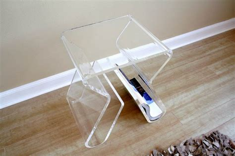 Plexiglass Table Top by New Clear Acrylic Illusion Ghost Side End Table Ebay