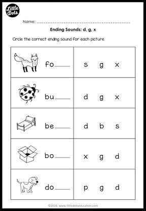 Ending Sounds Worksheets Grade by All Worksheets 187 Ending Sounds Worksheets Grade