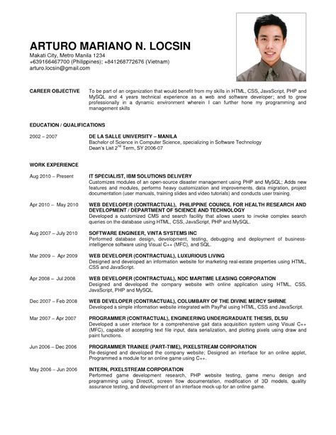 doc 612792 resume sample in word template bizdoska com
