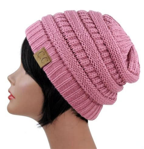 slouchy cable knit beanie trendy warm chunky soft stretch cable knit slouchy beanie