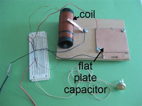 how a cylindrical capacitor works lc circuit aka tank or resonant circuit