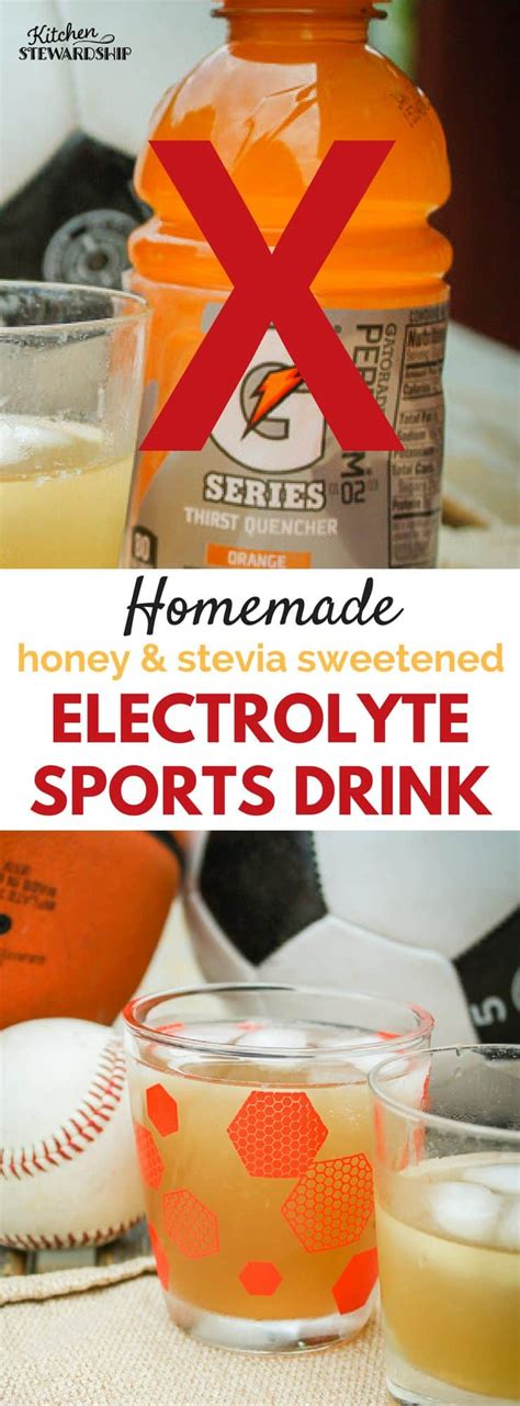 energy drink replacement electrolyte replacement sports drink recipe
