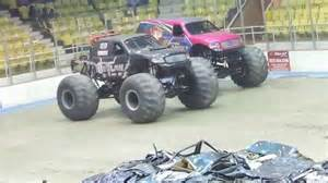 hara arena monster truck iron outlaw monster truck wheelie contest at hara arena