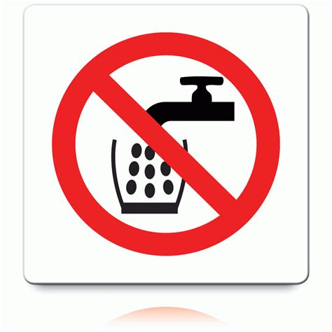 not water buy not water labels prohibition stickers