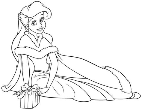 Disney Princess Ariel Coloring Pages Printable Coloring Princess Ariel Color Pages Printable