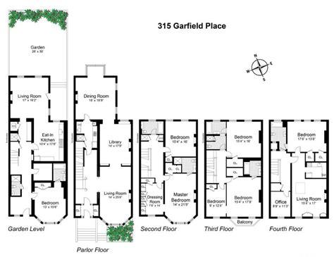 brooklyn brownstone floor plans 6sqft 315 garfield place floorplan
