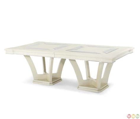 Contemporary Rectangular Dining Table Michael Amini Beverly Blvd Contemporary Rectangular Dining Tableby Aico