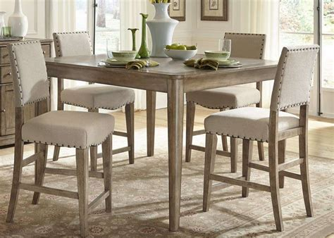 bar height dining room sets 7 piece counter height dining room sets homelegance daisy