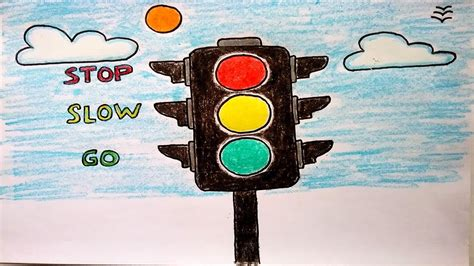safety lights and signals how to draw traffic lights easy for traffic signals