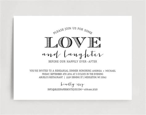 Wedding Dinner Invitation Card Template by Rehearsal Dinner Invitation Wedding Rehearsal Dinner