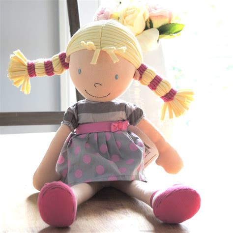 rag doll not on the high babies personalised ruby rag doll by the alphabet