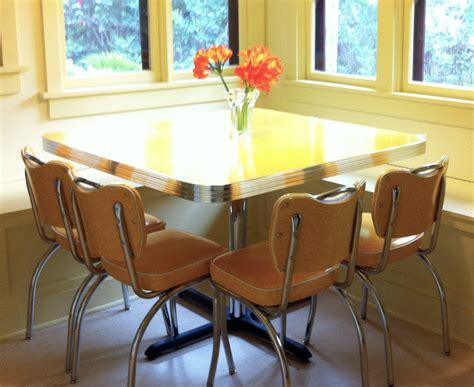 Yellow retro kitchen table chairs home decor amp interior exterior