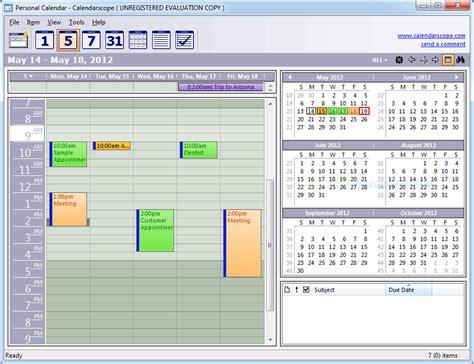 Calendarscope Review Calendarscope Screenshot And At Snapfiles