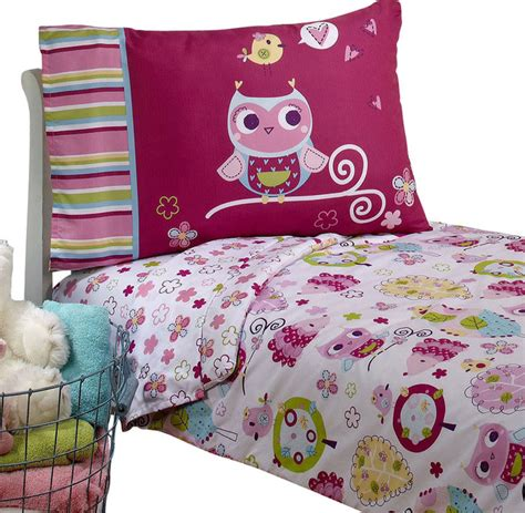 Owls Toddler Bedding Set Hoot Hoot Bed Contemporary Toddler Bedding Sets