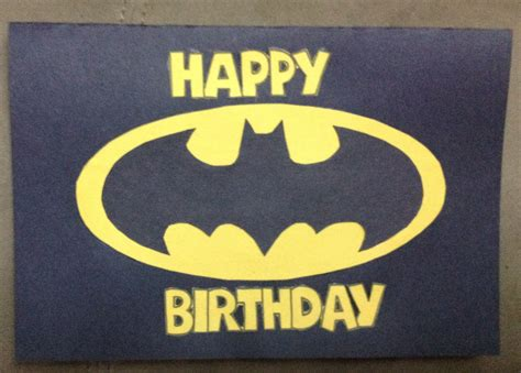 Batman Birthday Card Template by Nayeli S Crafts The Creative Spot My Husbands Birthday Card