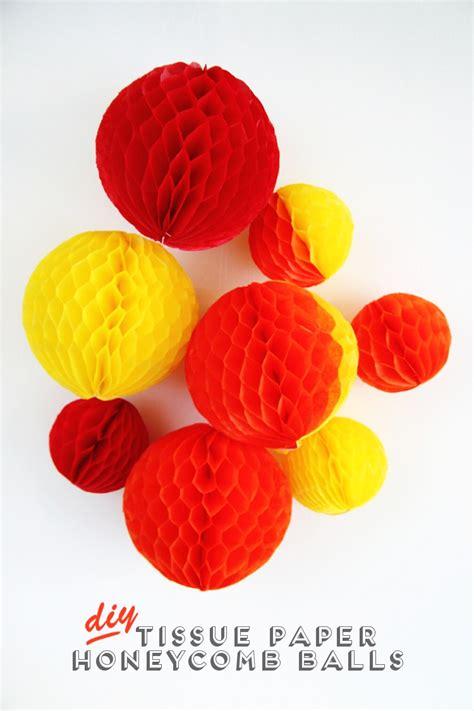 Tissue Paper Balls - diy tissue paper honeycomb balls gathering