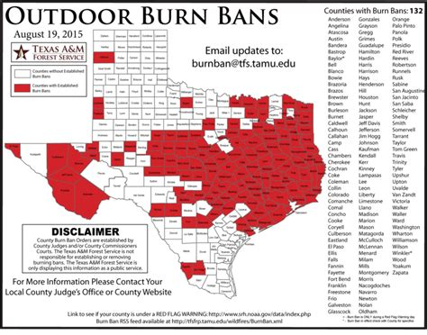 texas burn ban map burn ban extended to hunt county 88 9 ketr