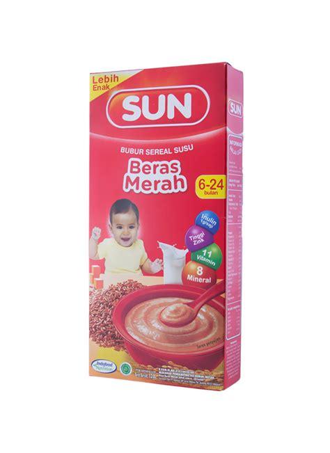 Sun Bubur 6 Beras Merah by Sun Bubur Sereal Beras Merah Box 120g Klikindomaret
