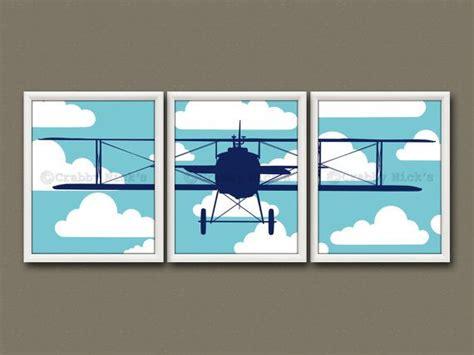8x10 3 Nursery Prints Nursery Art Nursery Decor Nursery Airplane Decor