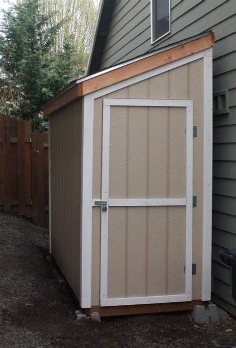slant roof shed plans   concrete floor