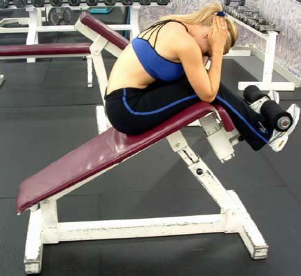 weight bench sit ups great abs