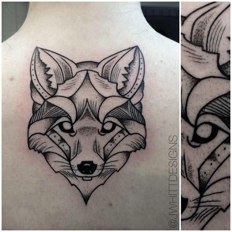 fox head tattoo geometric fox jwhitt designs tattoos