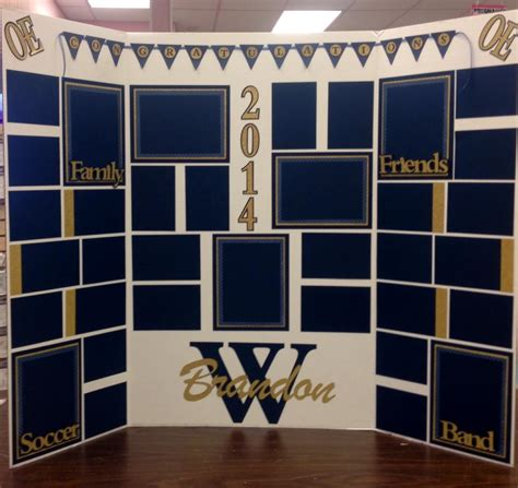 picture display board display board for graduation just add pictures the