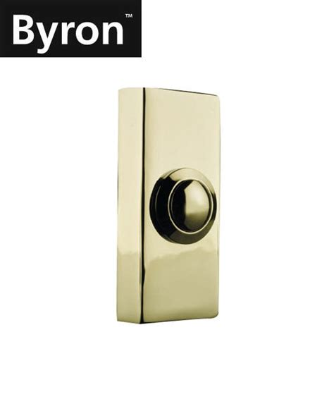 Wireless Front Door Bells New Byron Wired Push Button Front Back Door Bell Brass Finish Byr2204 Ebay