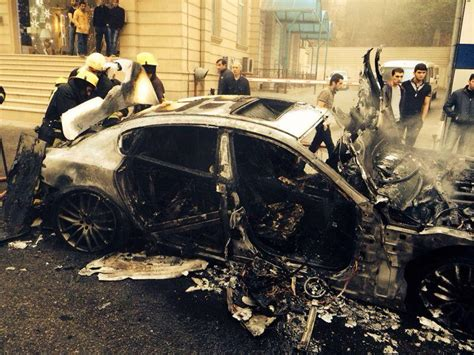 maserati baku maserati crash quarttroporte burnt to the ground in