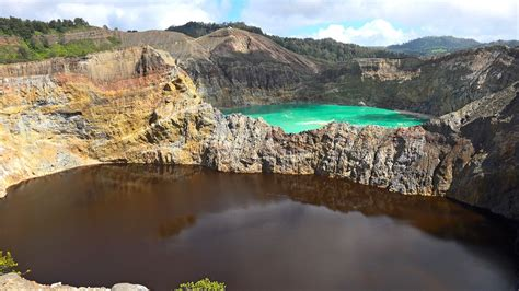 Colour Of Indonesia tri colored crater lakes of mt kelimutu indonesia in 4k