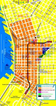 Map Downtown Seattle by Seattle Tourist Map Images