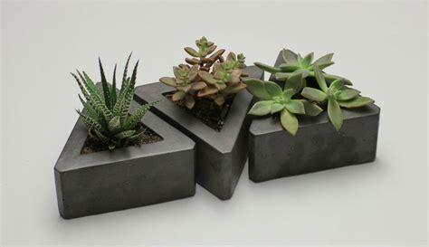 concrete succulent planter 8 handmade minimalist concrete creations for sale on etsy