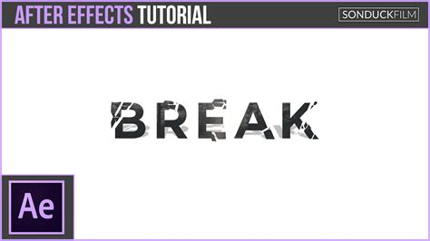 tutorial after effect text after effects tutorial break up text shatter motion