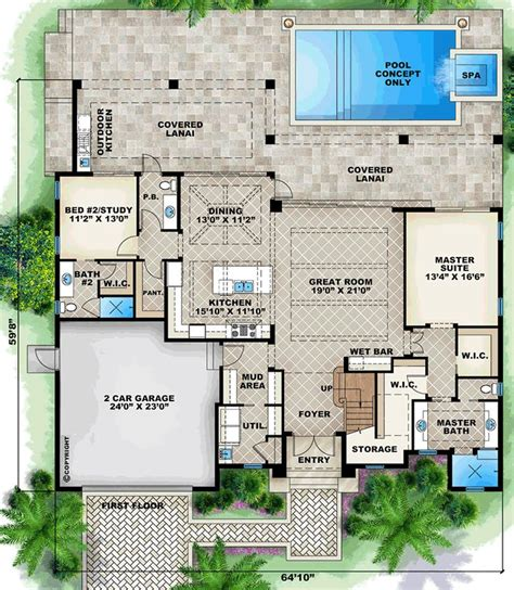 mediterranean home floor plans with pictures 23573