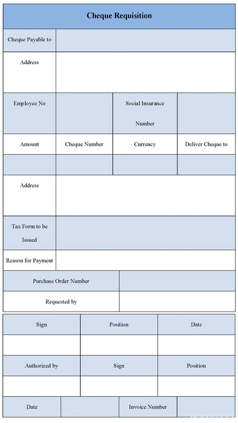 payment requisition form template cheque requisition form sle forms