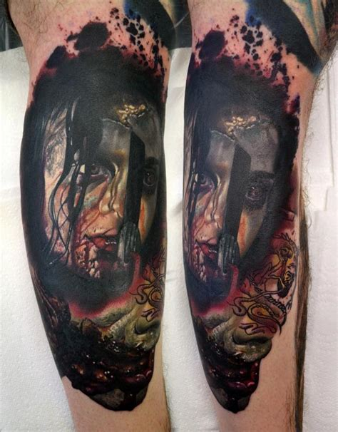 evil dead tattoo healed evil dead portrait continuation by alan