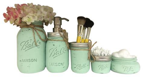 rustic bathroom accessories sets pretty simply studio rustic jar 5 bathroom set