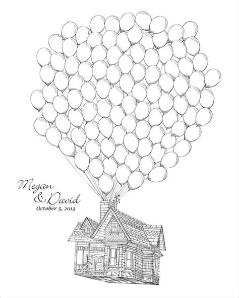 Coloring Page Up House by Up House Balloons Coloring Pages