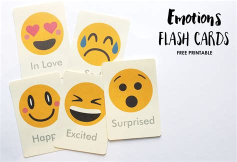 printable feelings flashcards for toddlers emotions flash cards