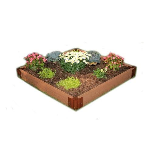 Frame It All Raised Garden Bed Kit Frame It All Two Inch Series 4 Ft X 4 Ft X 5 5 In Composite Raised Garden Bed Kit 300001080